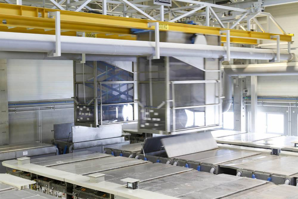 Galvatek chemical cleaning line for jet engines