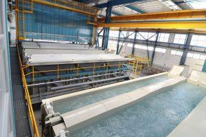 Automated aluminium anodizing and electro coloring line