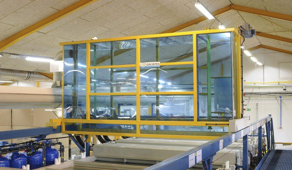A typical automatic surface treatment line.