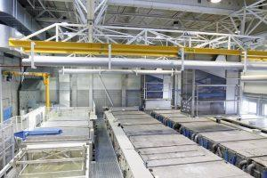 Chemical cleaning line for jet engine overhaul supplied by Galvatek