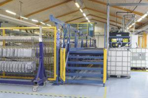 Chemical Surface Treatment Plants for industrial applications and aero engines